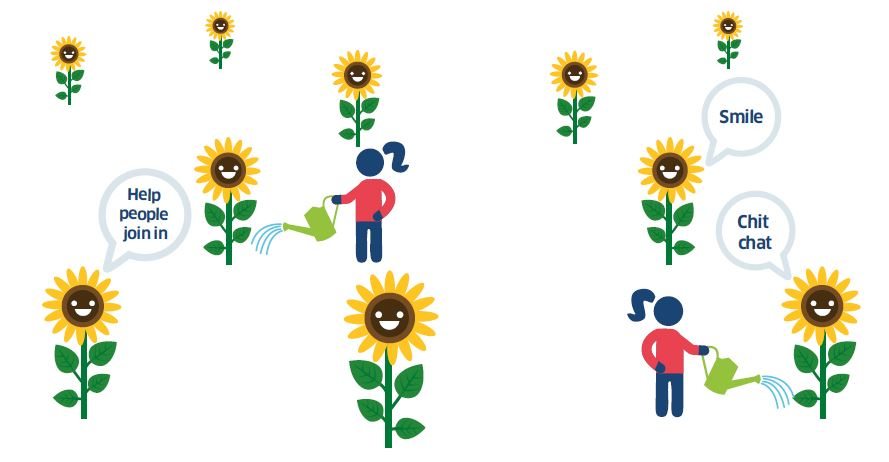 Flowers with speech bubbles