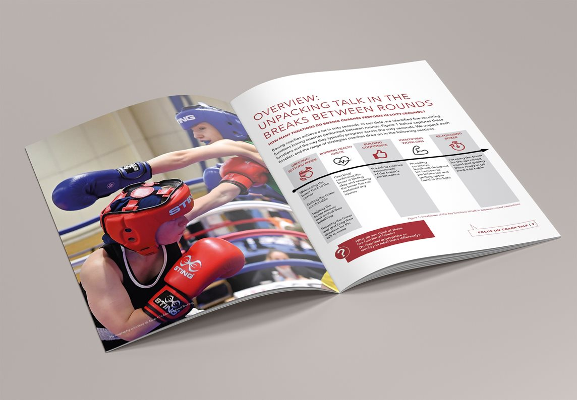 Image of the brochure produced to contain the results of the research and key suggestions for coaches