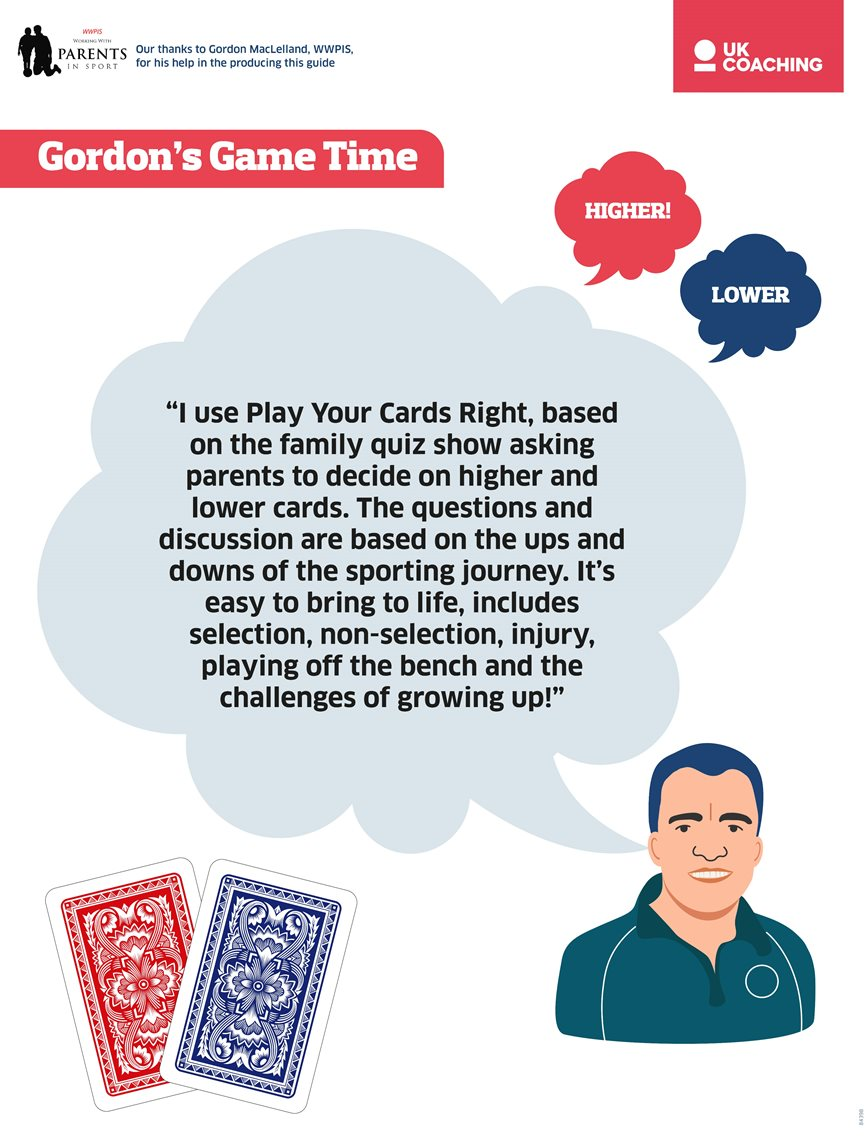 Idea from Gordon MacLelland for a game to use in parents' meetings