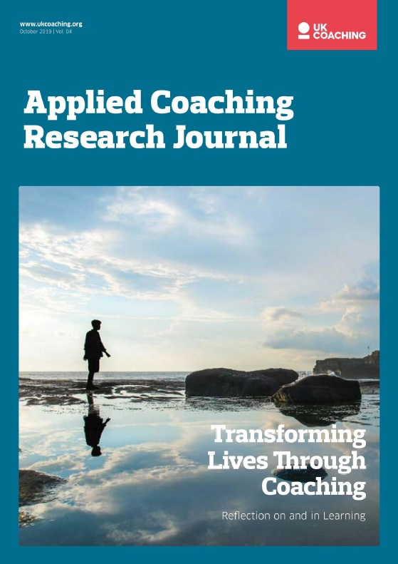 Front page of the UK Coaching October 2019 Vol 4 Research Journal